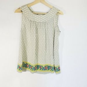 Anna Sui For Anthropologie Small Silk Blouse